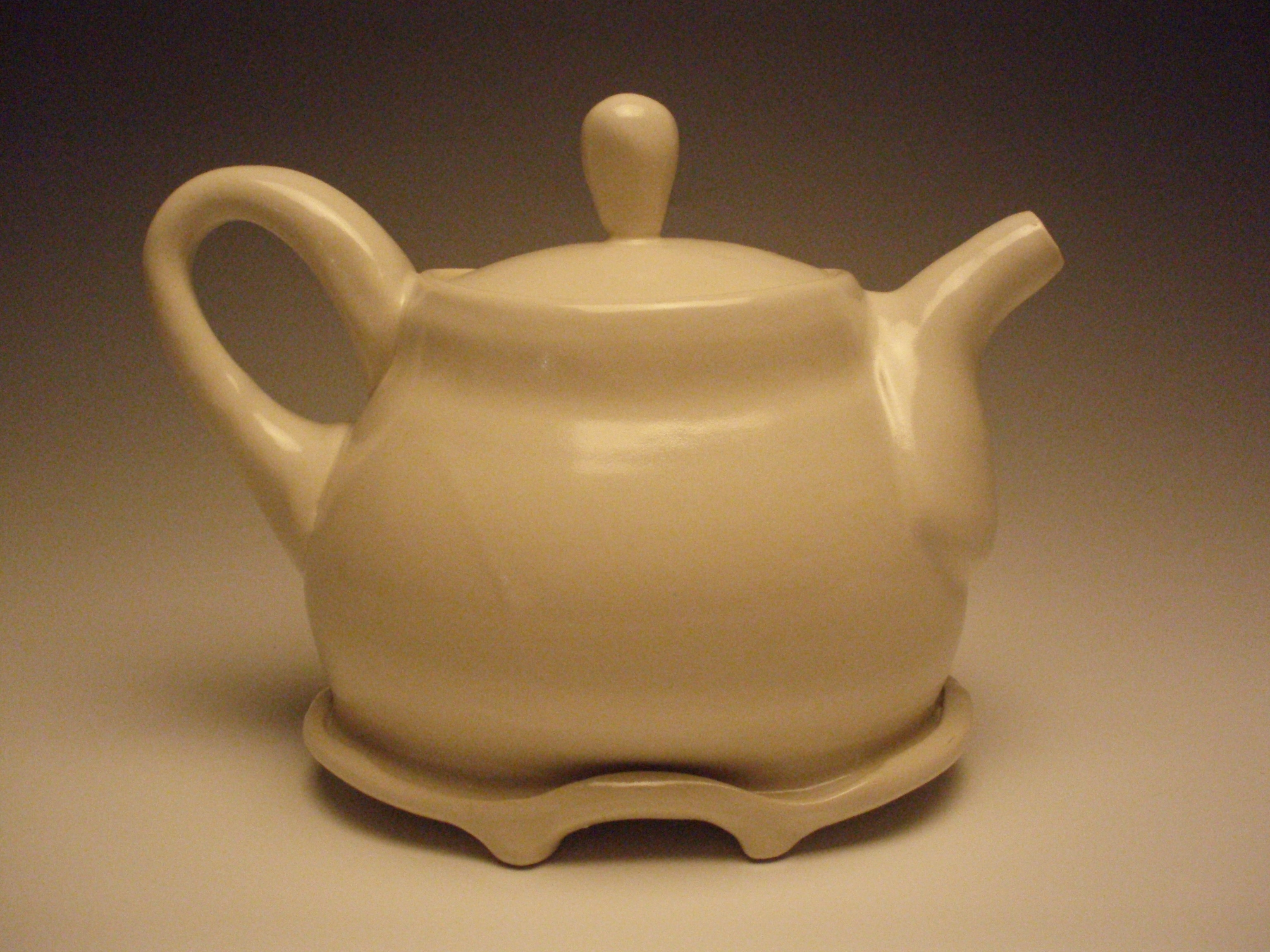 White altered teapot, 2008