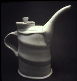Soda Fired White Teapot
