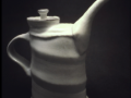 Soda Fired White Teapot